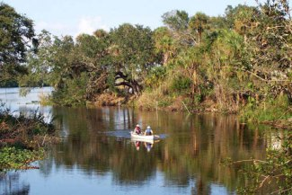 A Perk of Owning Moody River Estates Real Estate - Moody River Canoeing