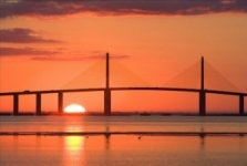 Another  Perk of Owning a St. Petersburg, FL Home - Sunshine Skyway Sunsets