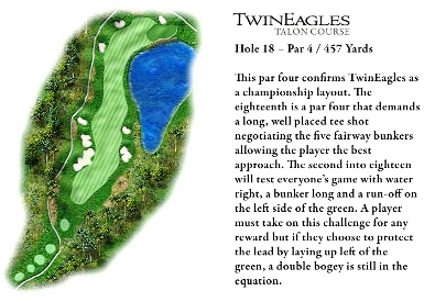 TwinEagles Golf Club, Hole No. 18 - The Talon Course